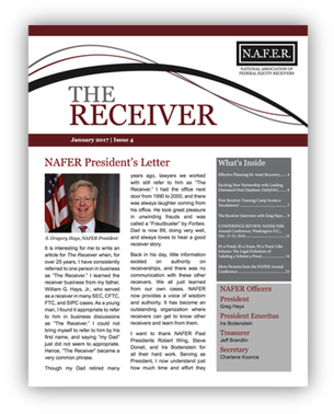 NAFER Receiver Newsletter Jan 2017 cover